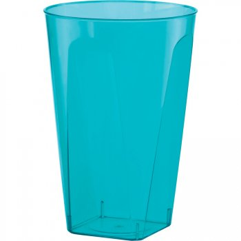 6 Gobelets translucides Bleu Turquoise
