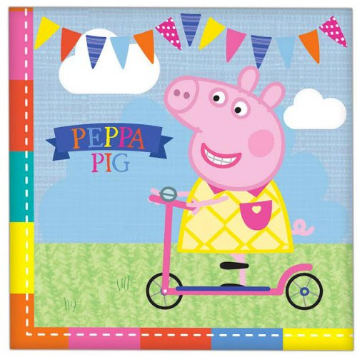 16 Serviettes Peppa Pig Summer