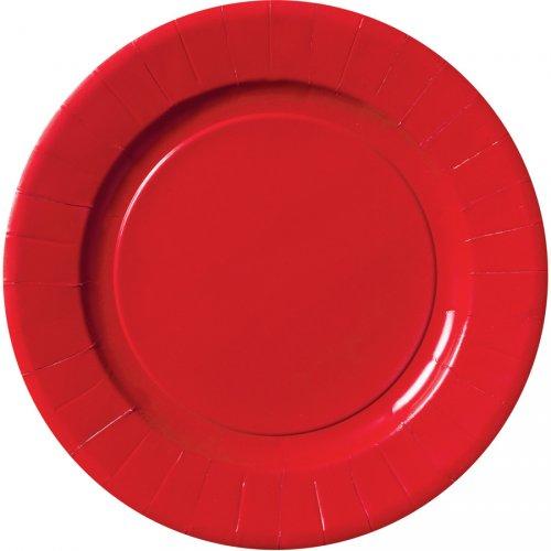 6 Grandes Assiettes Rouge Rubis