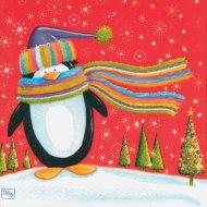 20 Serviettes Pingouin et Renne