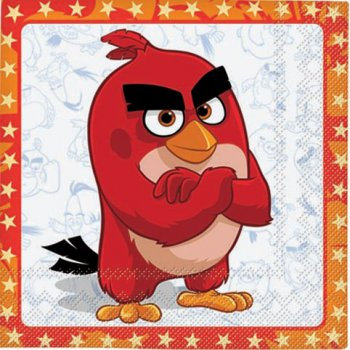 16 Serviettes Angry Birds Le film