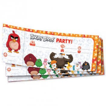 20 Invitations Angry Birds Le film
