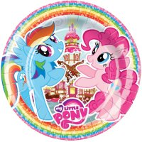 Contient : 1 x 8 Assiettes My Little Pony Rainbow