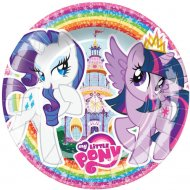 8 Petites Assiettes My Little Pony Rainbow