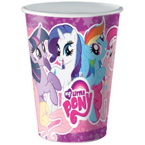 8 Gobelets My Little Pony Rainbow