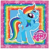Contient : 1 x 20 Serviettes My Little Pony Rainbow