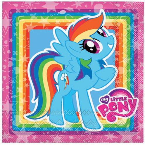 20 Serviettes My Little Pony Rainbow