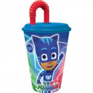 1 Gobelet + Paille Pyjamasques (45 cl) - Plastique