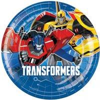 Contient : 1 x 8 Assiettes Transformers