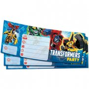 20 Invitations Transformers