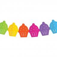 Guirlande Cupcakes Rainbow (3,60 m) - Papier