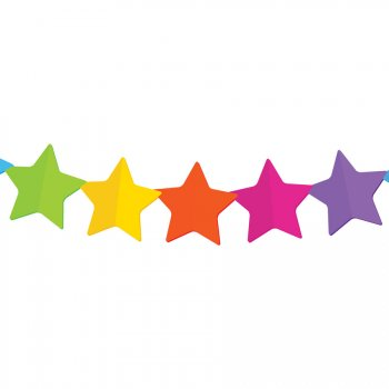 Guirlande Etoilles Rainbow (3,60 m) - Papier