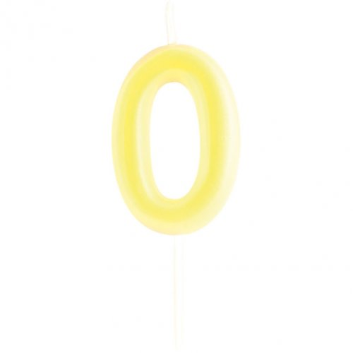 Bougie Chiffre 0 Phosphorescent