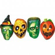 4 Masques Halloween - Carton