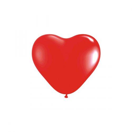 10 Ballons Coeur Rouge (25 cm)