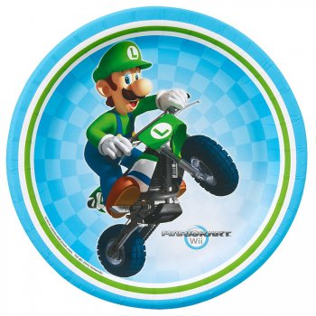 8 Petites Assiettes Mario Kart Wii