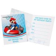 8 Invitations Mario Kart Wii