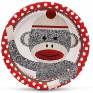 8 Assiettes Sock Monkey