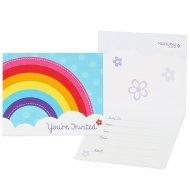 8 Invitation Rainbow Party