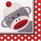20 Serviettes Sock Monkey