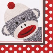 20 Serviettes Sock Monkey