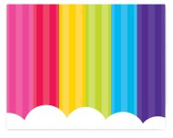 4 Sets de Table ludiques Rainbow Party