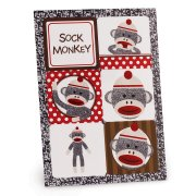 4 Planches de Stickers Sock Monkey