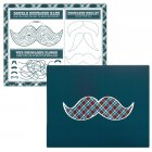 4 Sets de Table ludiques Little Man Moustache