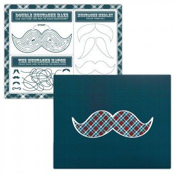 4 Sets de Table ludiques Little Man Moustache