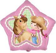 Ballon Mylar Cowgirl Rosie