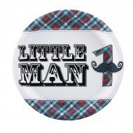 8 Assiettes Little Man Moustache 1rst