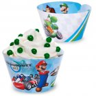 12 Wrappers � Cupcakes reversibles Mario Kart Wii