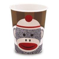Contient : 1 x 8 Gobelets Sock Monkey