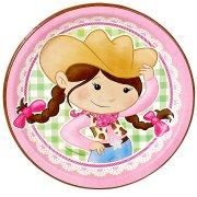 8 Assiettes Cowgirl Rosie