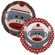 Ballon Mylar Sock Monkey