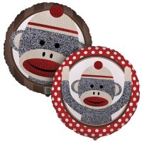 Contient : 1 x Ballon Mylar Sock Monkey