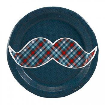 8 Petites Assiettes Little Man Moustache