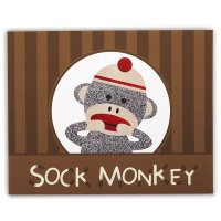 Contient : 2 x 4 Sets de Table ludiques Sock Monkey