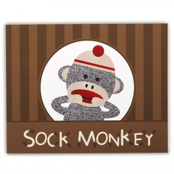 4 Sets de Table ludiques Sock Monkey