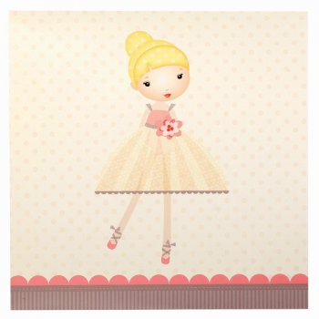 20 Serviettes Petite Ballerine