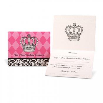 8 Invitations Princesse Élégance