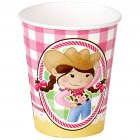 8 Gobelets Cowgirl Rosie