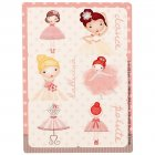 4 Planches de Stickers Petite Ballerine