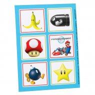 4 Planches de Stickers Mario Kart Wii