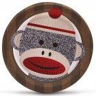 8 Petites Assiettes Sock Monkey