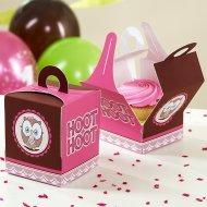 4 Boîtes à Cupcakes Hiboux super chouette