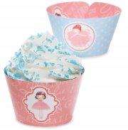 12 Wrappers � Cupcakes r�versibles Petite Ballerine