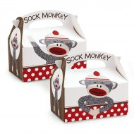 4 Boîtes Cadeaux Sock Monkey