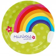 8 Assiettes Rainbow Party