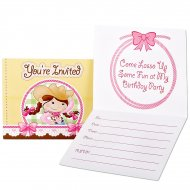 8 Invitations Cowgirl Rosie
